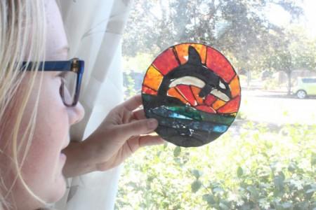 Dolphin Art enlarged