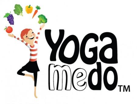 YOGAMEDO fruit Logo White background